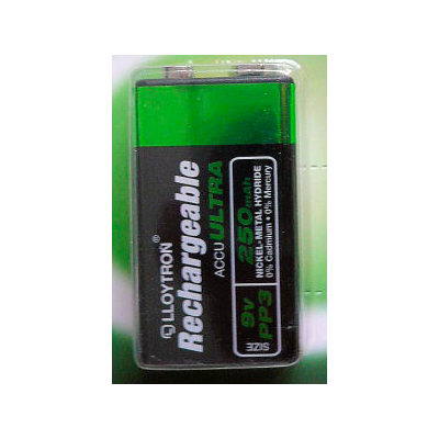 Rechargable PP3 Battery