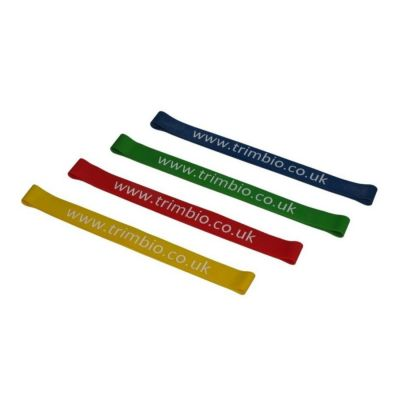 Set of Resistive Loops: 1 x Yellow - Light, 1 x Red - Medium, 1 x Heavy - Green, 1 x Extra Heavy - Blue