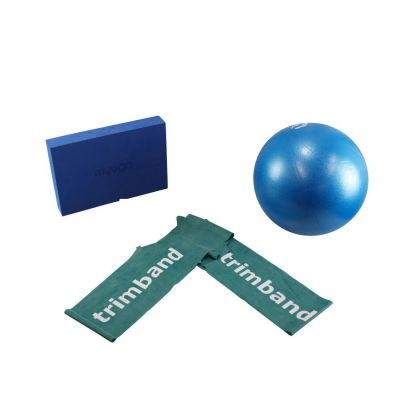 Bundle: 1 x 2m Green Trimband, 1x 26cm Soft Pilates Ball & 1 x Pilates Block.